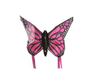 Single line kite Wolkensturmer Butterfly Pink