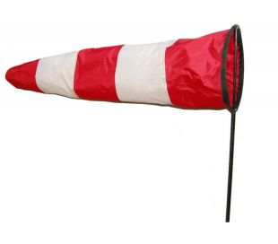 Airport Red/white Windsock