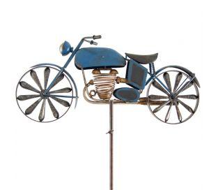 Eolienne Métal Moto bleue