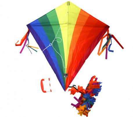 Single line kite Wolkensturmer EDDY RAINBOW