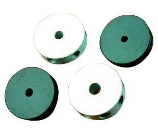 Round nylon center joint, 6 holes, 8mm